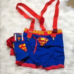 Superman Socks and underwear costume